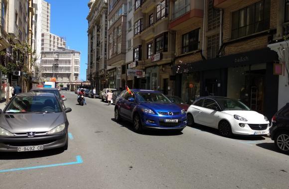 Marcha motorizada de Vox. A Coruña, 25 de maio de 2020