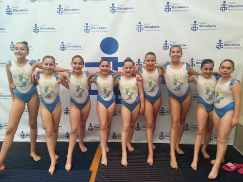 Nadadoras do Clube Sincro Ferrol