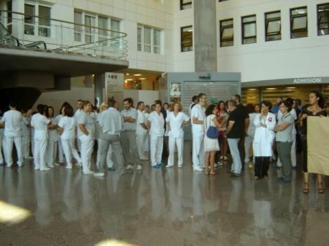 Protestas na sanidade