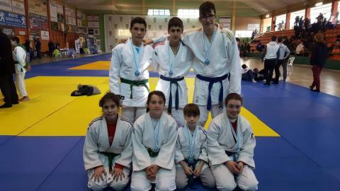 Judokas de Fene en Vilalba. Marzo 2018.
