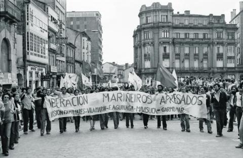 25 de xullo de 1980.Manifestación nacionalista. Fotografía: Xan Carballa