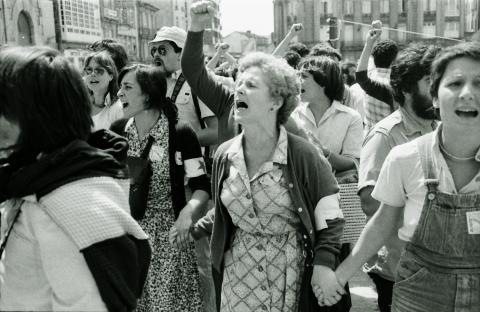 Luz Fandiño no 25 de xullo de 1980. Santiago de Compostela