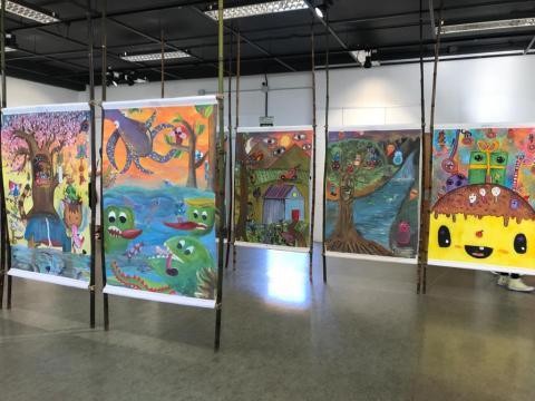 Exposición sobre yokais na Casa da Cultura de Fene