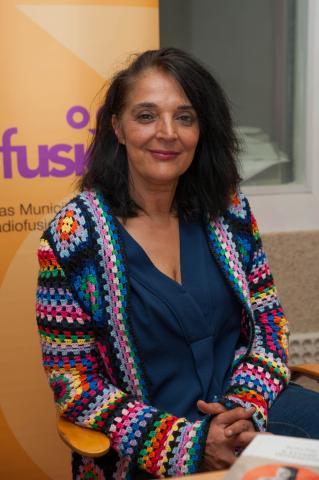 Fotografía: @quinovilas Rexina Vega no clube de lectura de Radiofusión