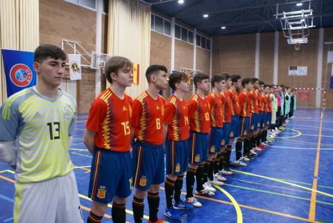 Selección española de fútbol sala Sub 17. Mallorca. Febreiro 2019