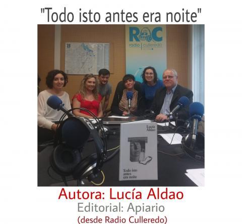 Lucía Aldao no clube de leitura de Radiofusión. Radio Culleredo