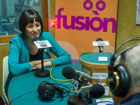 Ana Pontón en Radio Fene