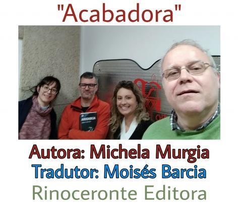 Acabadora de Murgia no club de lectura de Radiofusión