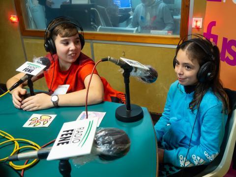 Noa e Brais Pazo en Radio Fene