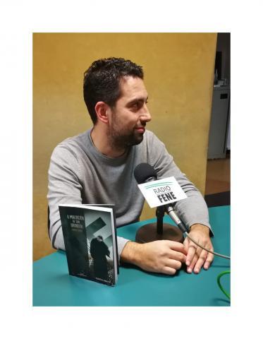 Paulo Calvo no club de lectura de Radio Fene Radiofusión