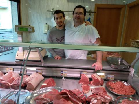 Samuel e Ramón Criado. Carnicería O Piqueiro