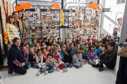 Castañas nunha exposición do colexio Centieiras. 2016