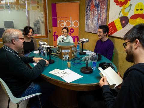 Daniel Salgado en Radio Fene. Fotografia: Xan Xe Corral