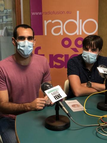 Juan Coira e Adrían Ares, organizadores dos actos en Pontedeume