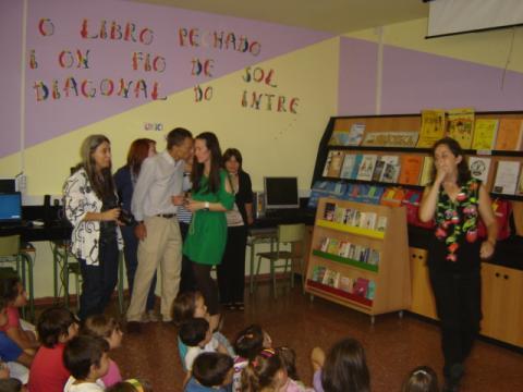 Inauguración da biblioteca Paula Carballeira. Maniños. 2011