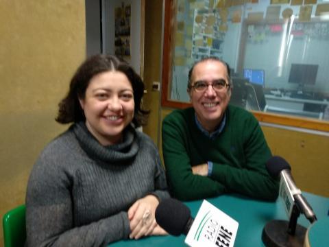 Antía Pérez Caramés e Isidro Dubert