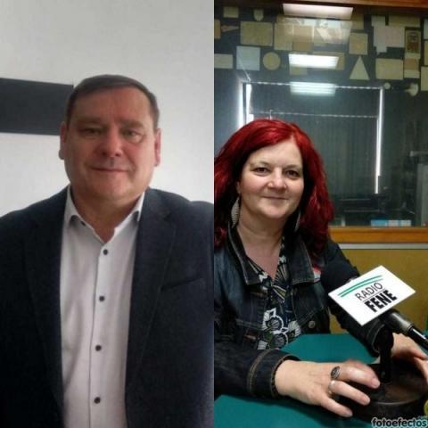 Mar Piñeiro (PSOE) e Juventino Trigo (BNG)