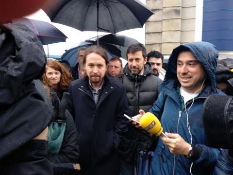 Pablo Iglesias en Navantia Ferrol. 25 de abril de 2019