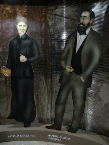 Rosalía de Castro e Manuel Curros Enriquez