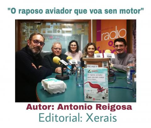 Antonio Reigosa no club de lectura de Radio Fene Radiofusión