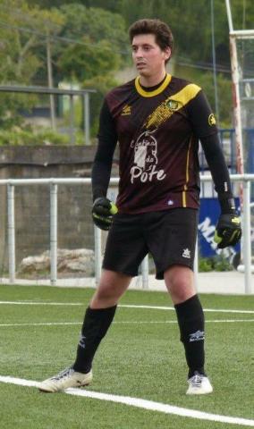 Adán, porteiro do Pote. Segunda Galicia de fútbol