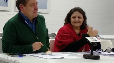 Juventino Trigo (BNG) e Mari Carmen Martínez (EU)