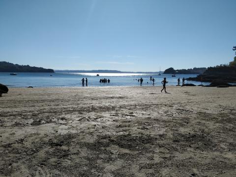 Praia na Illa de Arousa. Setembro 2020