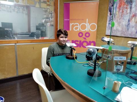 Diego Mourente en Radio Fene Radiofusión