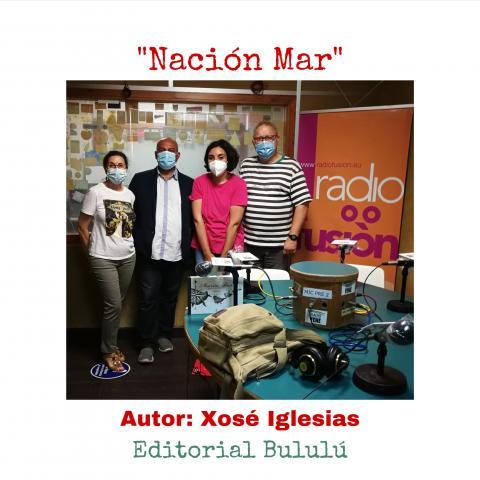 Xosé Iglesias no clube de lectura de Radio Fene Radiofusión