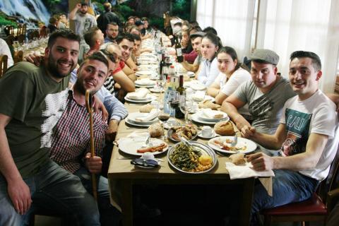 Festa do Lacón con grelos en Mesón do Vento