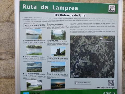 Ruta da lamprea en Pontecesures