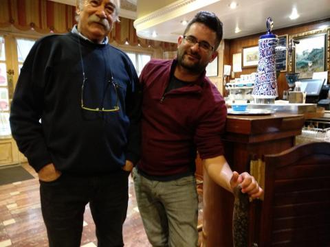O Chef Rivera e o pescador de lampreas