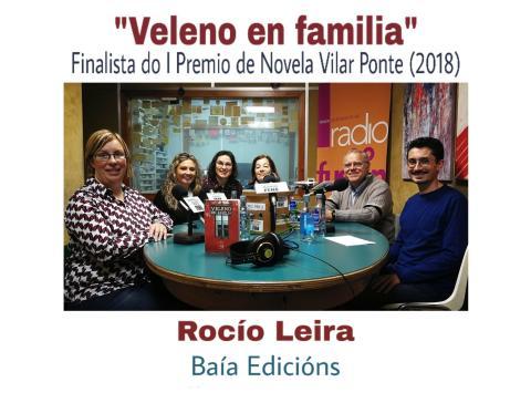 Rocío Leira, autora de Veleno en familia