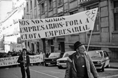 Manifestación labrega. 1980. Fotografía: Xan Carballa
