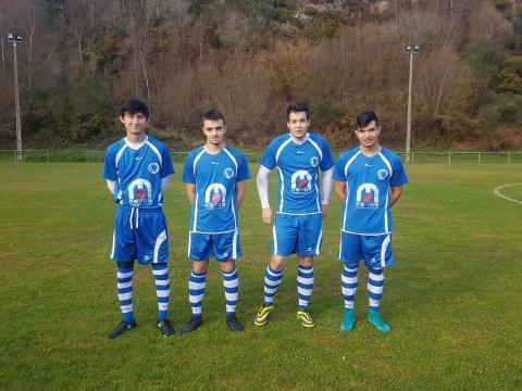 Geoffrey, Xabi, Barreiro e Borja, dianteiros do Maniños B
