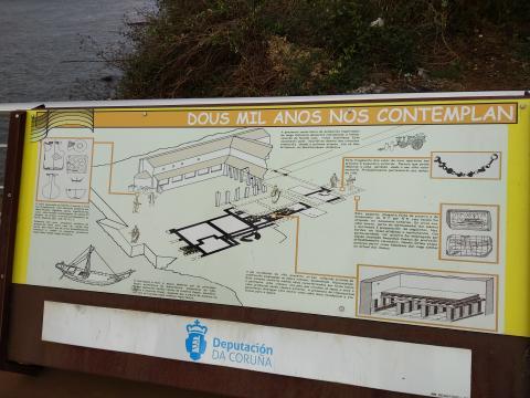 Panel informativo no paseo marítimo de Mugardos