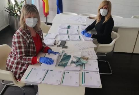 O Concello de Fene prepara as máscaras