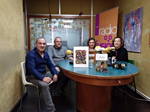 Antonio Piñeiro no club de lectura de Radio Fene Radiofusión