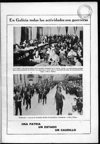 Vida Gallega. Novembro 1936