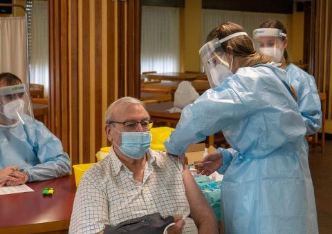 A vacina chega a Ferrol