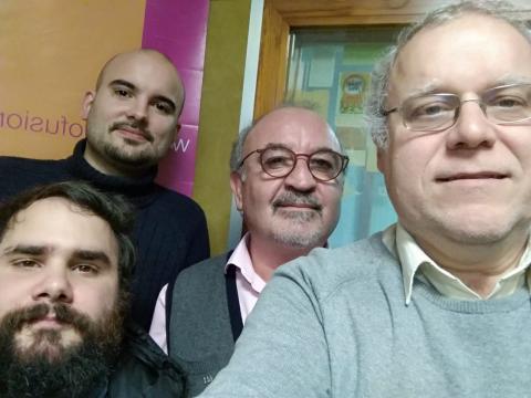 Antonio Casal, Rubén Labisbal, Henrique Rabuñal e Henrique Sanfiz