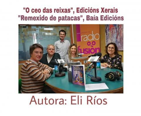 Eli Rios no club de lectura de Radio Fene Radiofusión