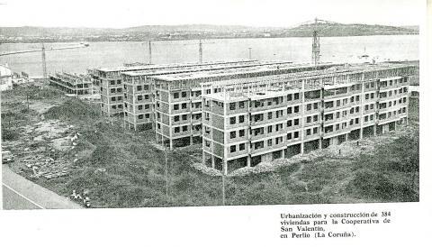 San Valentín en construción. 1970