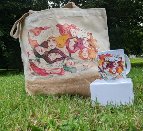 Bolsa con deseño de Leandro Lamas para A Costureira