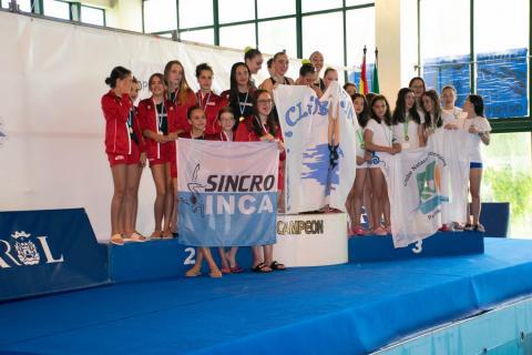 Natación artística do Club Sincro Ferrol