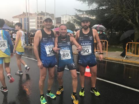 Manuel Polo, Pedro e Daniel Abeledo no Campionato Galego de Marcha en ruta