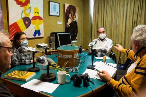 Xavier Seoane en Radio Fene Radiofusión. Maio de 2021