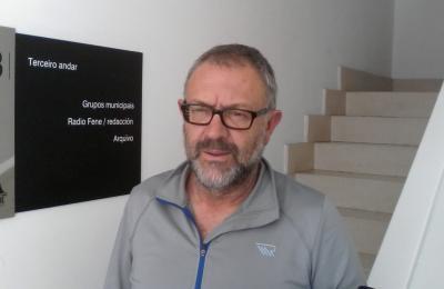 Xan Ramírez, directivo do Club Montaña Ferrol