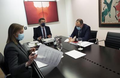 O presidente da Xunta de Galicia Alberto Núñez Feijoo na reunión co comité clínico