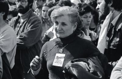 Manfiestación pola lingua galega. A Estrada. 1980. Fotografía: Xan Carballa
